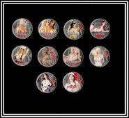 Набор монет 1рубль 2014г (графическое изображение) секс-рубль. 10шт