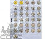 Лист-разделитель для монет серии 200л Победы