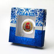 Подарочная коробка для 10р монеты с держателями. Вариант 3