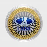 10 рублей ЛАДА, серия автомобили мира, цветная,гравировка