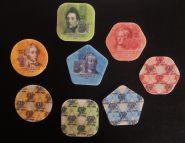 Приднестровье, 4 монеты из пластика(композитных материалов) в альбоме