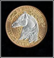 Жетон Год Лошади 2014 (лунный календарь) голова