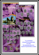 Все 40 монет серии 70 лет ВОВ1941-1945гг + альбом