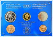 Швеция 2003 официальный годовой набор монет