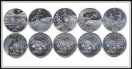 Набор юбилейных монет Украины 5 гривен 2011 года, ФУТБОЛ ЕВРО2012. Арт2320